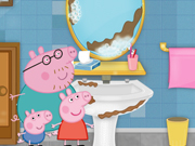 Igrica za decu Peppa Pig cleaning bathroom