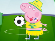 Online game Peppa Pig World Cup Dress Up