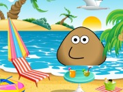 Online game Pou At The Beach