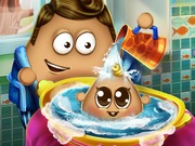 Online game Pou Baby Wash