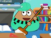 Online game Pou Classroom Clean