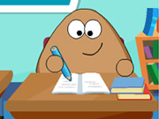 Online igrica Pou Classroom Slacking