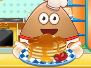 Online game Pou Cooking Pancakes