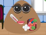 Online igrica Pou girl heart surgery