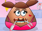 Pou Girl Teeth Care