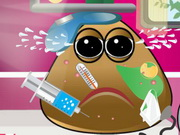 Online game Pou got Varicella