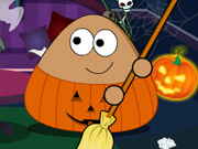 Online game Pou Halloween Cleanup