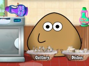 Igrica za decu Pou Washing Dishes