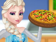 Online game Pregnant Elsa Cooking Pizza