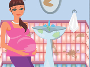 Online game Pregnant Mommy Cleaning Bath
