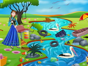 Online game Princess Anna River Cleaning