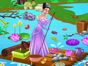 Princess Tiana Pond Cleaning