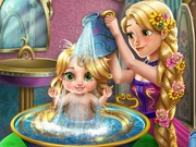 Online game Rapunzel Baby Wash