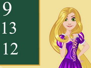 Online game Rapunzel Math Exam