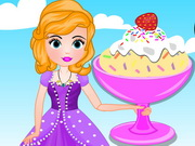 Online game Sofia Cooking Cake Batter Ice Cream